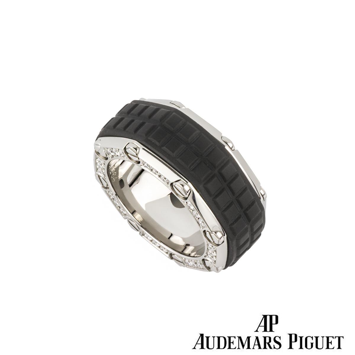 Audemars Piguet Titanium Diamond Set Royal Oak Offshore Ring